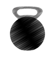 kettlebell weight icon image vector image