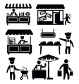market and shopping vector image