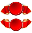 Red round frame with ribbon vector image vector image