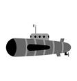 Retro submarine Ship to swim underwater with vector image