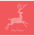 xmas deer vector image vector image