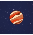 Abstract Cartoon planet vector image