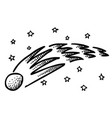 cartoon image of comet vector image