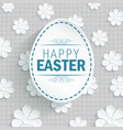 easter egg on flowers background vector image