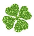 green four-leaf clover vector image