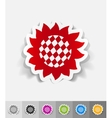 realistic design element sunflower vector image