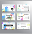 set of business cards - template abstract vector image