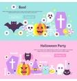 Trendy Halloween Web Banners vector image