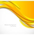 Orange wavy background vector image vector image