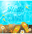 Summer holidays vacation greeting vector image vector image