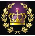 laurel wreath and crown vector image vector image