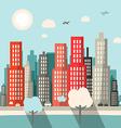 Flat Design City vector image vector image