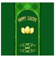 Green Happy Easter card vector image vector image