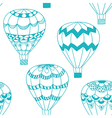 Summertime concept seamless pattern in doodle vector image