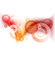 red and orange background vector image vector image