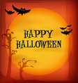 Halloween night sky background and icons vector image vector image