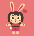 Young Bunny Girl In Love vector image