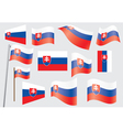 flag of Slovakia vector image vector image