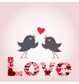Bird of love8 vector image