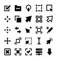 Controls and Navigation Arrows 1 vector image