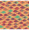 Fish pattern in abstract style vector image