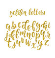 gold glitter hand drawn latin modern calligraphy vector image