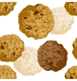 Hand drawn cookie seamless vector image