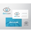 Optics Lab Abstract Logo Template and vector image