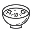 soup line icon food and drink bowl sign vector image