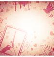 Vintage Romantic Background vector image
