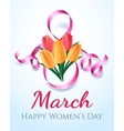 Woman international eight march day card vector image