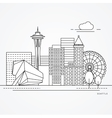 Seattle one line design vector image