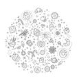 sweet food concept  line flat design vector image