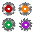 Four Types of Circular Saw Blade vector image