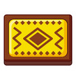 yellow and brown turkish carpet icon cartoon style vector image