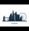 london skyline monochrome color vector image