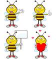 Cartoon bees vector image vector image