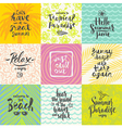 Set of summer holidays and vacation vector image vector image