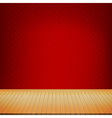 Brown wood floor with chinese style red background vector image