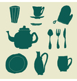 Tea set seamless vector image vector image