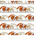 cartoon dog and cat on white seamless vector image