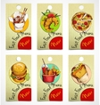 Fast food tags vector image
