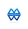 geometry shape technology logo vector image