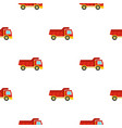 red toy truck pattern seamless vector image