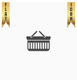 Shopping basket icon - vector image