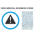 Warning Error Icon with 1000 Medical Business vector image