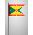 Flag of Grenada National Flag on Flagpole vector image