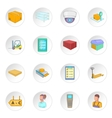 Warehouse store icons set vector image