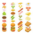 preparing fast food step by step template colorful vector image