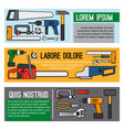 diy workshop tool banners vector image vector image